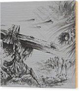 Man Of Sorrows Wood Print