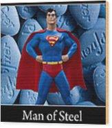 Man Of Steel Wood Print by William Patrick