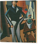 Man Standing At A Window Wood Print
