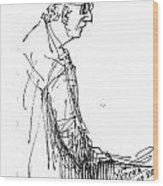 Man Standing Wood Print