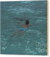 Man Swimming Wood Print