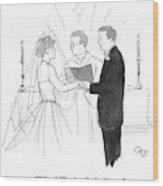Man To Wife During Wedding Vows Wood Print