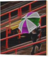 Man Under Umbrella Wood Print