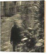 Man Walking Wood Print