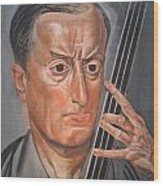 Man With Cello Wood Print