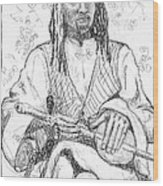 Man With Chinese Violin Wood Print