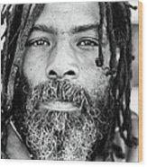 Man With Dreadlocks Wood Print