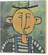 Man With Fancy Hat And Suspenders Wood Print