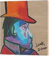 Man With Top Hat Wood Print