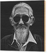 Man With White Beard Wood Print