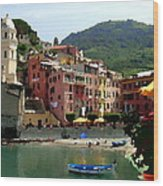 Waterfront - Vernazza - Cinque Terre - Abstract Wood Print