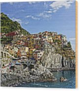 Manarola Italy Dsc02563  Wood Print