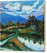 Manas Sarovr Lake-17- Wood Print