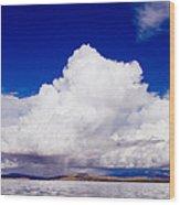 Manasarovar Mountain Lake Panoramic Wood Print
