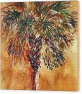 Manasota Key Palm 1 Wood Print