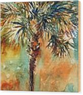 Manasota Key Palm 2 Wood Print