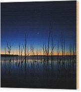 Manasquan Reservoir At Dawn Wood Print