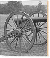 Manassas Battlefield Cannon Wood Print