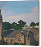 Manayunk - Saint John The Baptist Church Wood Print