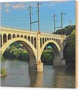 Manayunk Stone Arch Bridge Wood Print