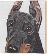 Manchester Terrier Vignette Wood Print