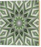 Mandala 107 Green Wood Print