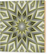 Mandala 107 Yellow Wood Print