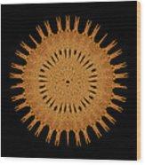 Sand Mandala Wood Print