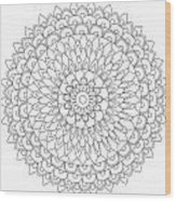 Mandala 4 Wood Print