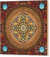 Mandala Arabia Sp Wood Print