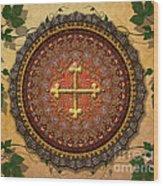 Mandala Armenian Cross Sp Wood Print by Bedros Awak