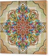 Mandala Birds Sp Wood Print by Bedros Awak