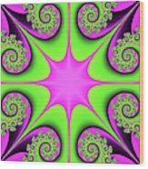 Mandala Cheerful Wood Print