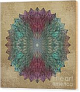 Mandala Crystal Wood Print by Filippo B