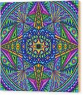 Mandala Madness Wood Print