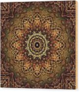 Mandala Of Bones Wood Print