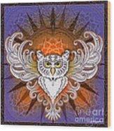 Mandala Owl Wood Print