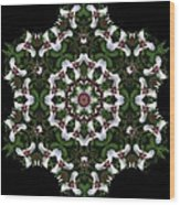 Mandala Trillium Holiday Wood Print