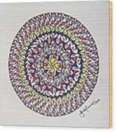 Mandala V Wood Print