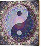 Mandala Yin Yang Wood Print