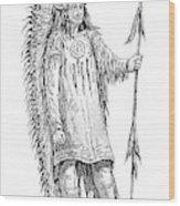 Mandan Indian Chief Wood Print