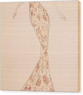 Mandarin Damask Gown Wood Print by Christine Corretti