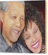Mandela And Whitney Wood Print