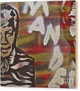 Mandela Wood Print by Tony B Conscious