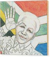 Mandela's Blooming Shirt Wood Print