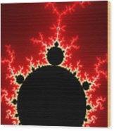 Mandelbrot Fractal Flash Power Red And Black Wood Print