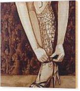 Mandirigma In Stilettos Wood Print