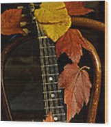 Mandolin Autumn 1 Wood Print