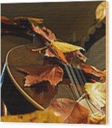 Mandolin Autumn 3 Wood Print