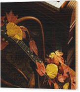 Mandolin Autumn 5 Wood Print